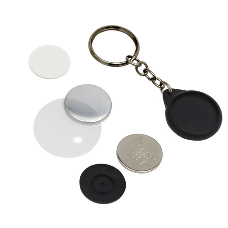 G Series 25mm Badge Keyring With Trolley Coin