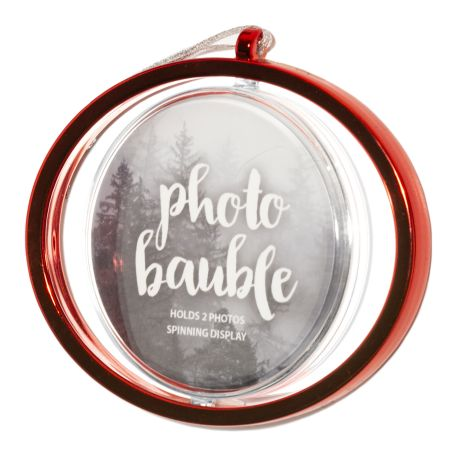 Blank Metallic Red Spinning Bauble Insert 70mm Thumbnail
