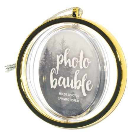 Blank Metallic Gold Spinning Bauble Insert 70mm