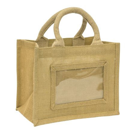 Mini Jute Bag Natural Insert 152 x 102mm (6 x 4 inch) Thumbnail