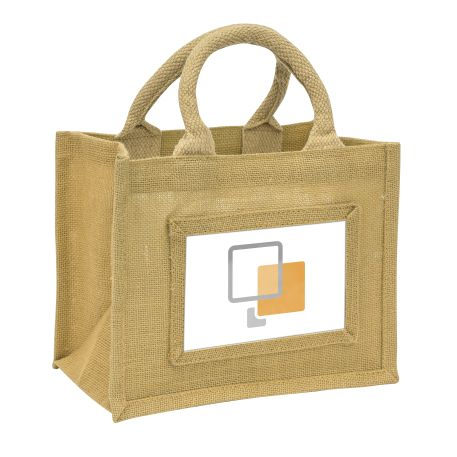 Mini Jute Bag Natural Insert 152 x 102mm (6 x 4 inch)