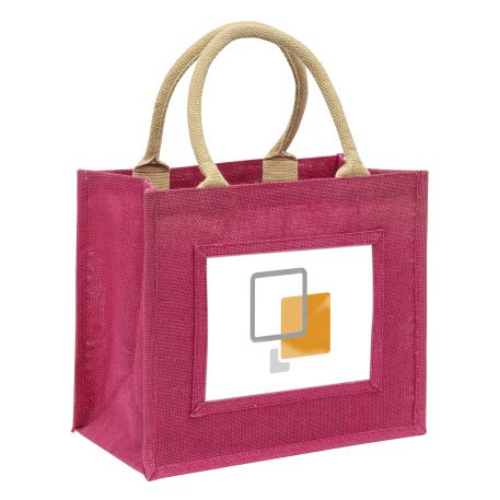 Medium Jute Bag Pink Insert 203 x 152mm (6 x 8 inch) Thumbnail