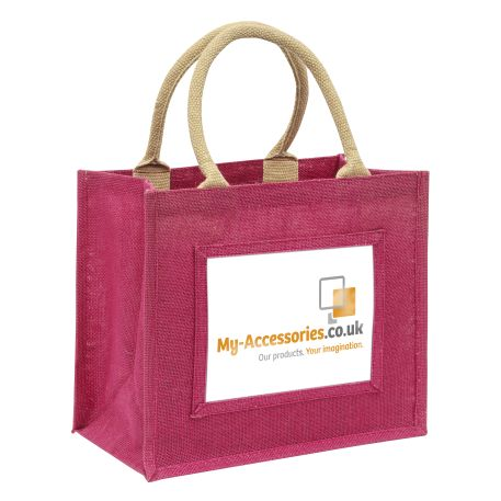 Medium Jute Bag Pink Insert 203 x 152mm (6 x 8 inch)