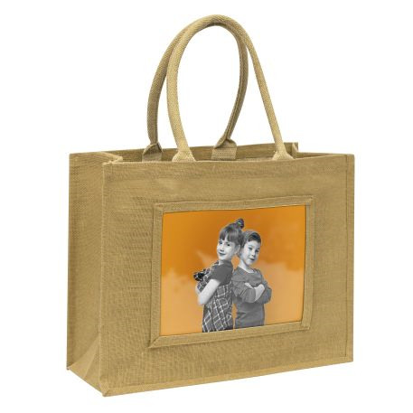 Large Jute Bag Natural Insert 254 x 203mm (10 x 8 inch)