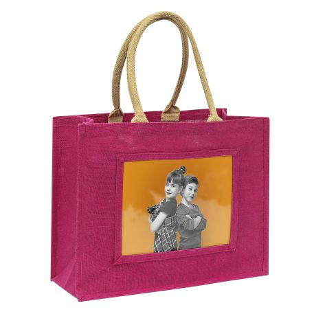 Large Jute Bag Pink Insert 254 x 203mm (10 x 8 inch) Thumbnail