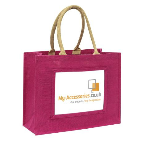 Large Jute Bag Pink Insert 254 x 203mm (10 x 8 inch)