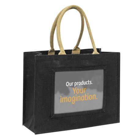 Large Jute Bag Black Insert 254 x 203mm (10 x 8 inch) Thumbnail