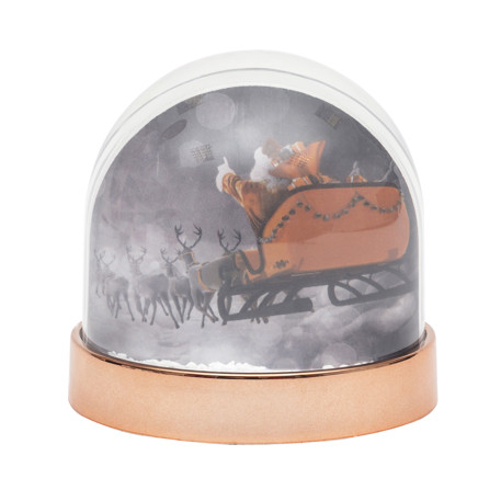 Blank Snow Dome Rose Gold Base Insert 70 x 62mm Thumbnail