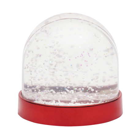 Blank Snow Dome Metallic Red Base Insert 70 x 62mm Thumbnail