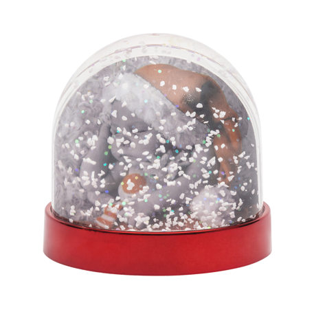 Blank Snow Dome Metallic Red Base Insert 70 x 62mm
