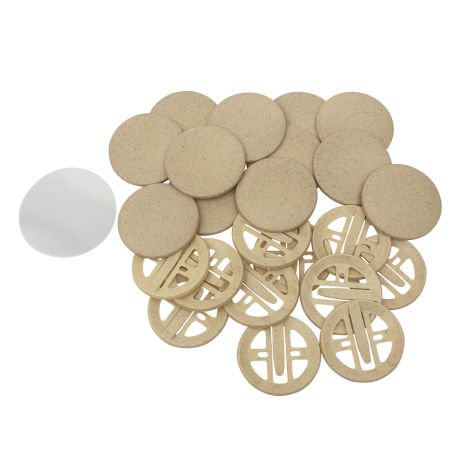 56mm Round G Series Bio Button Safety Clip Components Thumbnail