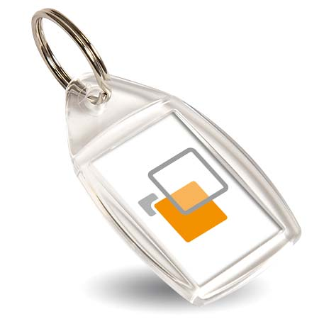 P5 Individually Bagged Blank Keyring Insert - 35 x 24mm
