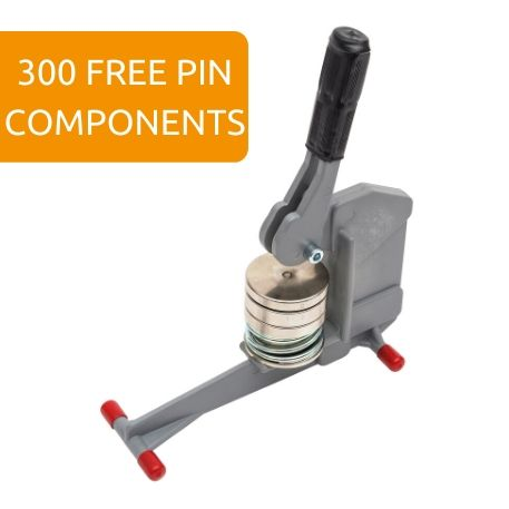 G Series 59mm Compact Button Badge Machine - Incl 300 Pin Back Components FREE of Charge Thumbnail