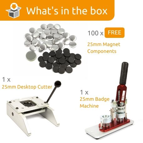 G Series 25mm Magnet Starter Pack- Includes Machine, Desktop Cutter and 100 FREE components