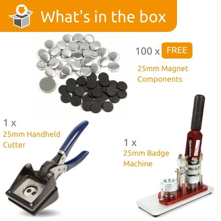 G Series 25mm Magnet Starter Pack- Includes Machine, Handheld Cutter and 100 FREE components