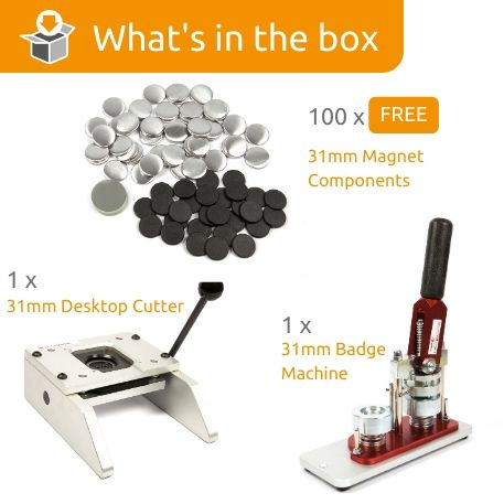 G Series 31mm Magnet Starter Pack- Includes Machine, Desktop Cutter and 100 FREE components