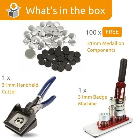 G Series 31mm Medallion Starter Pack- Includes Machine, Handheld Cutter and 100 FREE components
