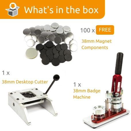G Series 38mm Magnet Starter Pack- Includes Machine, Desktop Cutter and 100 FREE components