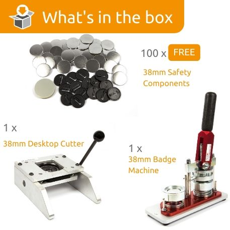 G Series 38mm Safety Back Starter Pack- Includes Machine, Desktop Cutter and 100 FREE components