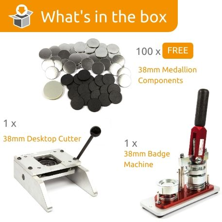 G Series 38mm Medallion Starter Pack- Includes Machine, Desktop Cutter and 100 FREE components