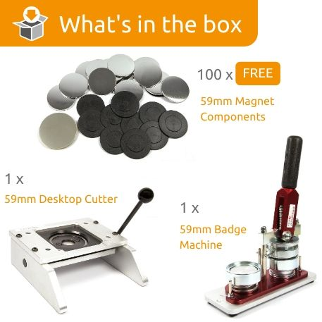 G Series 59mm Magnet Starter Pack- Includes Machine, Desktop Cutter and 100 FREE components