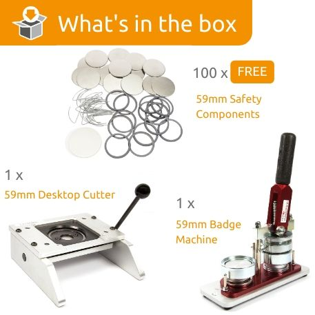 G Series 59mm Safety Back Starter Pack- Includes Machine, Desktop Cutter and 100 FREE components