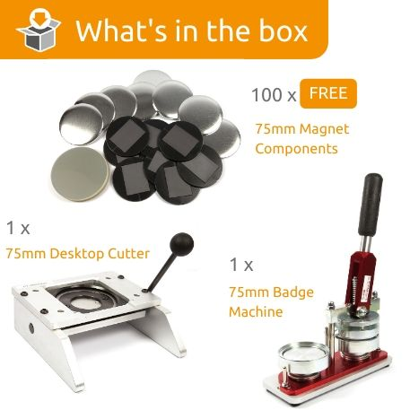 G Series 75mm Magnet Starter Pack- Includes Machine, Desktop Cutter and 100 FREE components