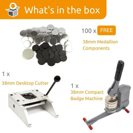 G Series 38mm Medallion Starter Pack- Includes Machine, Desktop Cutter and 100 FREE components Thumbnail
