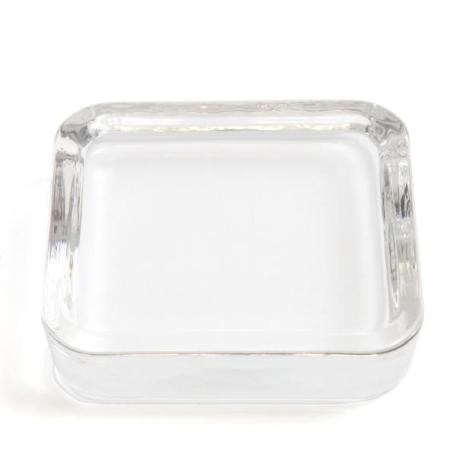 Square 90 x 90mm Diameter Glass Paperweight + Felt Base - Insert Size 75 x 75mm